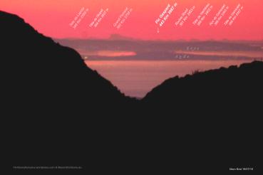 Attualmente record mondiale di fotografia lontana per paesaggi terra a terra.